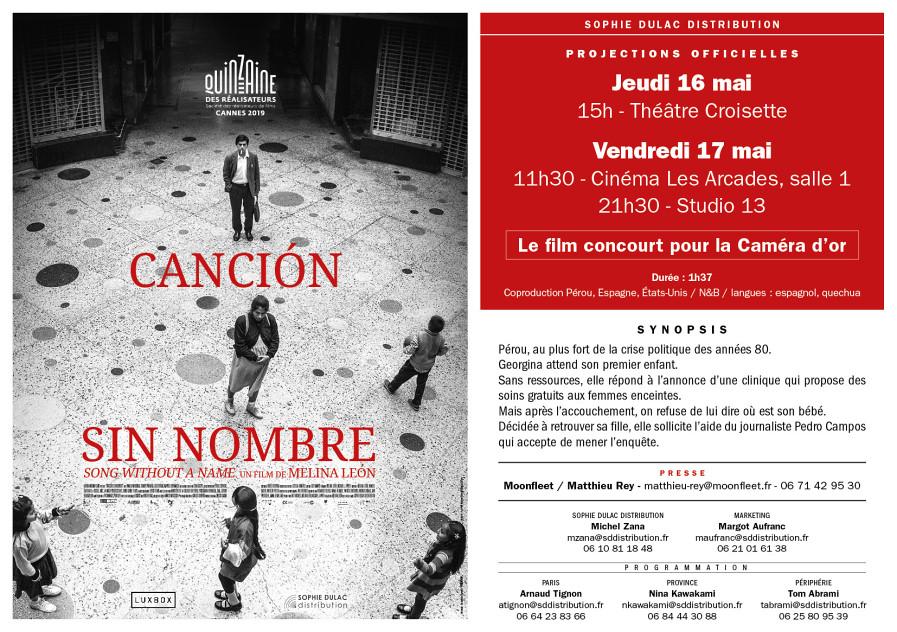 Cancion Sin Nombre à Cannes