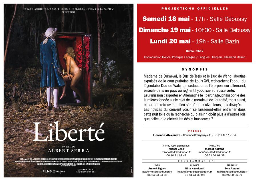 Liberté à Cannes